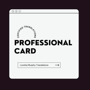 Professional Card