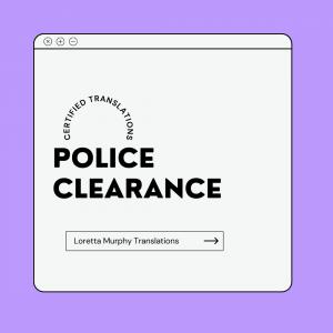 Police Clearance