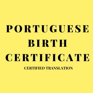 portuguese birth certificate certified translation