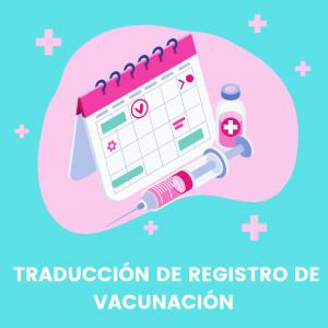 Traduccion de Registro de Vacunacion