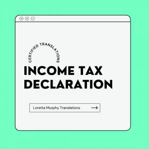 Income Tax Declaration