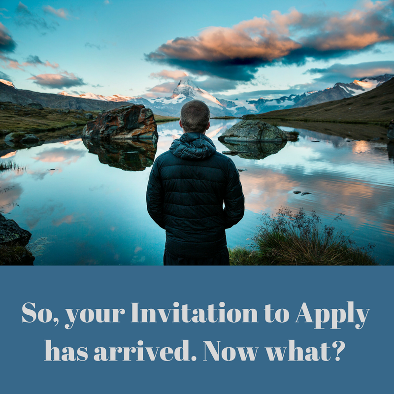 So, your invitation to apply has arrived. Now what?
